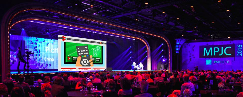 HbbTV icoon gelanceerd op het Mediapark Jaarcongres Hilversum